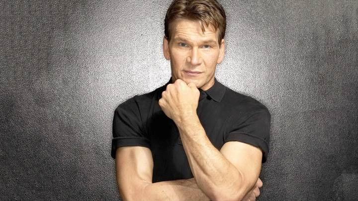 Patrick Swayze In Black T-Shirt Nice Body Photoshoot